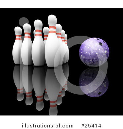 Bowling Clipart #25414 by KJ Pargeter