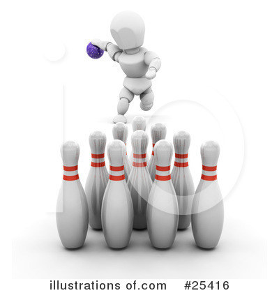 Bowling Clipart #25416 by KJ Pargeter