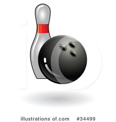 Bowling Ball Clipart #34499 by AtStockIllustration