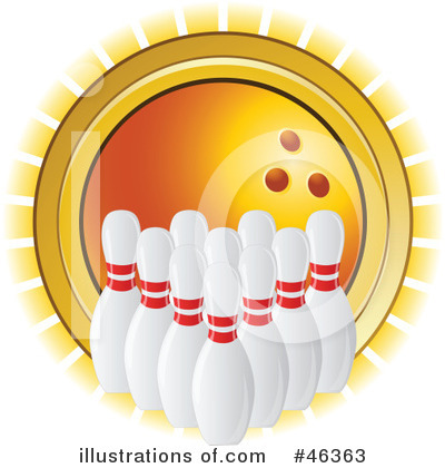 Royalty-Free (RF) Bowling Clipart Illustration by elaineitalia - Stock Sample #46363