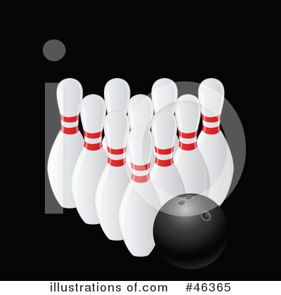 Royalty-Free (RF) Bowling Clipart Illustration by elaineitalia - Stock Sample #46365