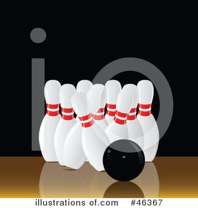 Royalty-Free (RF) Bowling Clipart Illustration by elaineitalia - Stock Sample #46367