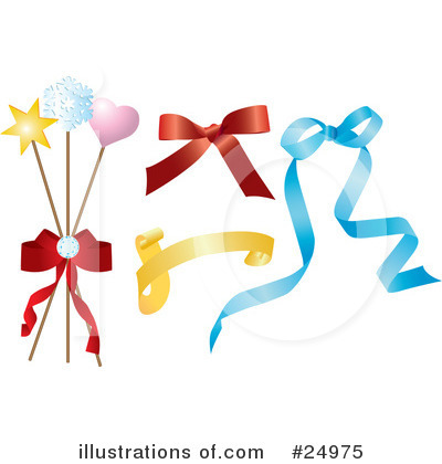 Royalty-Free (RF) Bows Clipart Illustration by Eugene - Stock Sample #24975