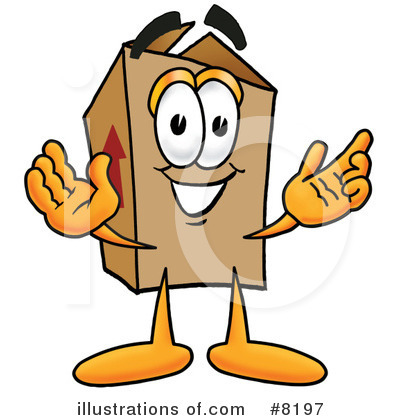 Royalty-Free (RF) Box Clipart Illustration by Toons4Biz - Stock Sample #8197