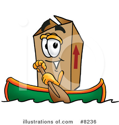 Royalty-Free (RF) Box Clipart Illustration by Toons4Biz - Stock Sample #8236