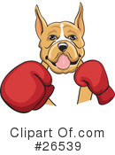 Royalty-Free (RF) Boxer Dog Clipart Illustration #26539