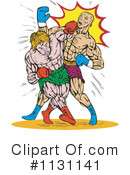 Royalty-Free (RF) Boxing Clipart Illustration #1131141