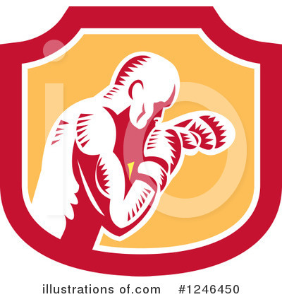 Royalty-Free (RF) Boxing Clipart Illustration by patrimonio - Stock Sample #1246450