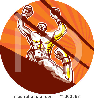 Royalty-Free (RF) Boxing Clipart Illustration by patrimonio - Stock Sample #1300687