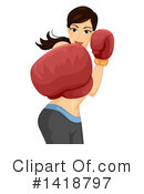 Royalty-Free (RF) Boxing Clipart Illustration #1418797