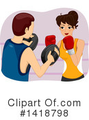 Royalty-Free (RF) Boxing Clipart Illustration #1418798