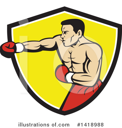 Boxing Gloves Clipart #1418988 by patrimonio