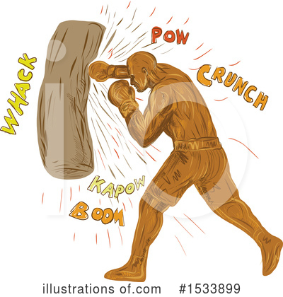 Royalty-Free (RF) Boxing Clipart Illustration by patrimonio - Stock Sample #1533899