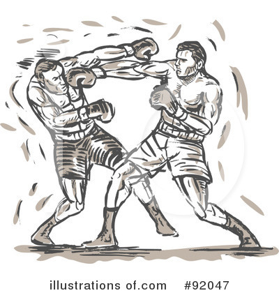 Royalty-Free (RF) Boxing Clipart Illustration by patrimonio - Stock Sample #92047