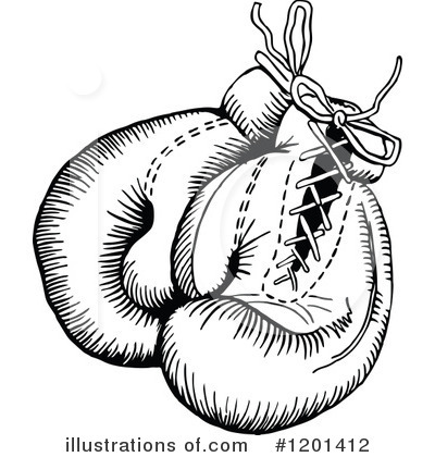 Boxing Gloves Clipart #1201412 by Prawny Vintage
