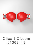 Boxing Gloves Clipart #1363418 by Julos