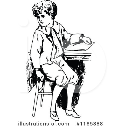 School Boy Clipart #1165888 by Prawny Vintage