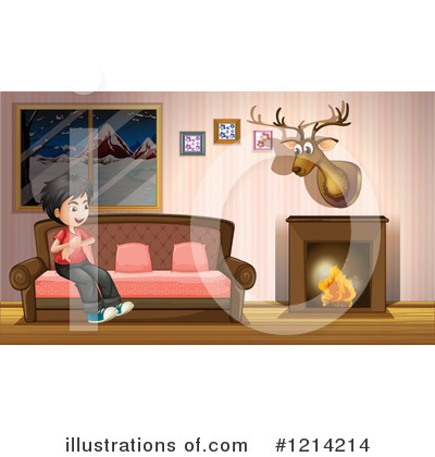 Fireplace Clipart #1214214 by Graphics RF