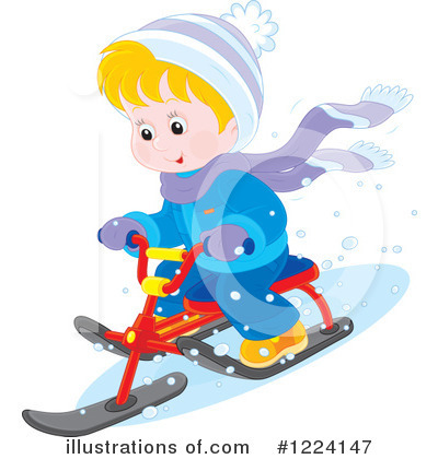 Sledding Clipart #1224147 by Alex Bannykh