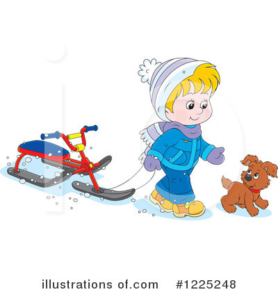 Sledding Clipart #1225248 by Alex Bannykh