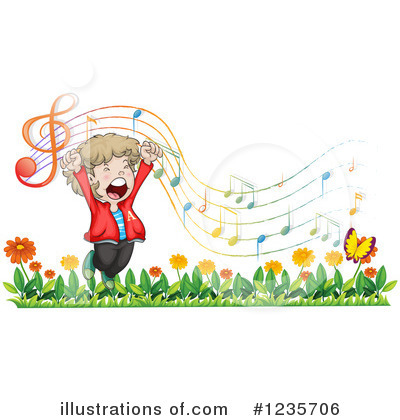 Singing Clipart #1235706 by Graphics RF