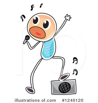 Singing Clipart #1240120 by Graphics RF