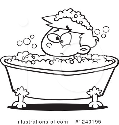 Bath Clipart #1240195 by toonaday