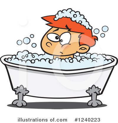 Bath Time Clipart #1240223 by toonaday