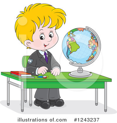 School Children Clipart #1243237 by Alex Bannykh