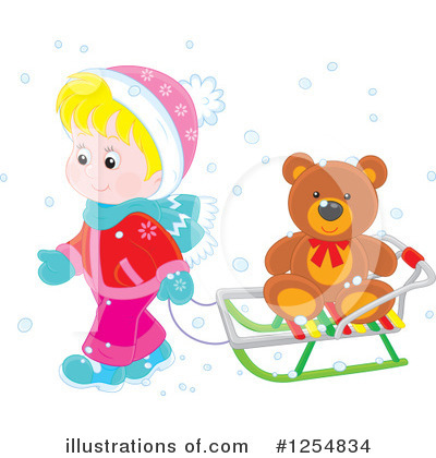 Sledding Clipart #1254834 by Alex Bannykh