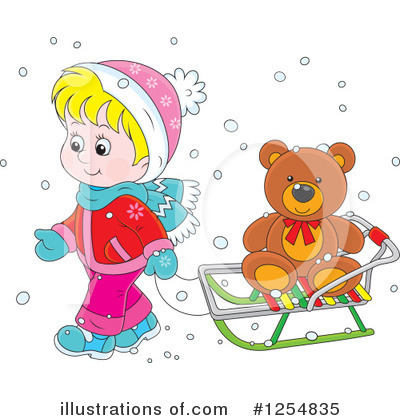 Sledding Clipart #1254835 by Alex Bannykh