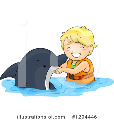 Dolphin Clipart #1294446 by BNP Design Studio