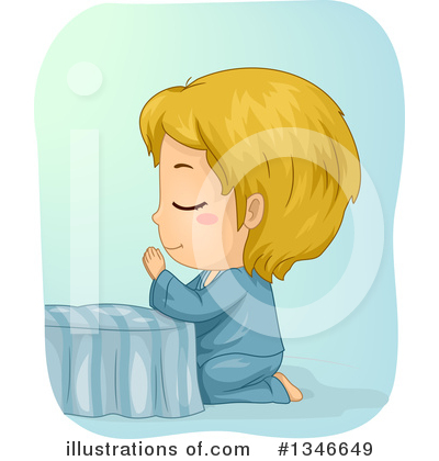 Praying Clipart #1346649 by BNP Design Studio