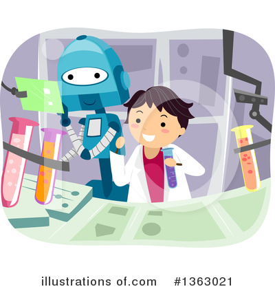 Robot Clipart #1363021 by BNP Design Studio