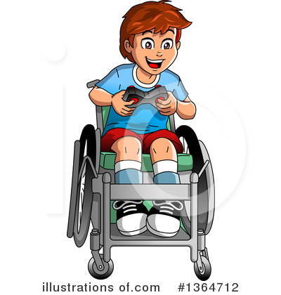Wheelchair Clipart #1364712 by Clip Art Mascots