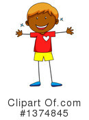 Boy Clipart #1374845 by Graphics RF