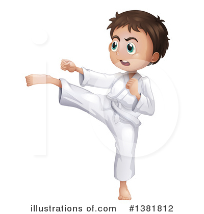 Karate Clipart #1381812 by Graphics RF
