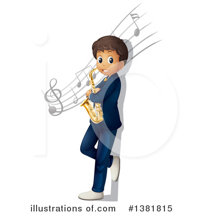 Saxophone Clipart #1381815 by Graphics RF