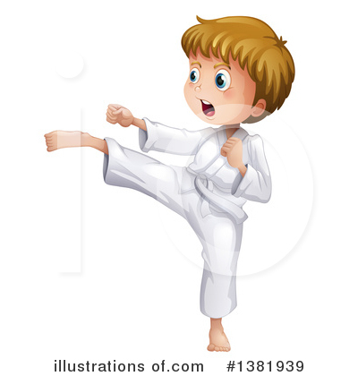 Karate Clipart #1381939 by Graphics RF