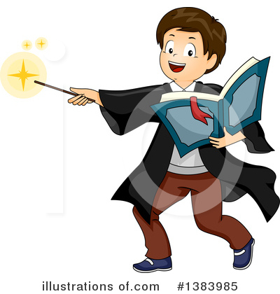 Magician Clipart #1383985 by BNP Design Studio