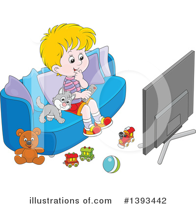 Tv Clipart #1393442 by Alex Bannykh