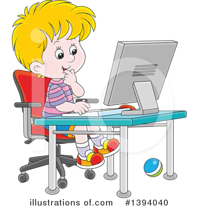Desktop Computer Clipart #1394040 by Alex Bannykh