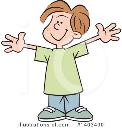 Boy Clipart #1403490 by Johnny Sajem
