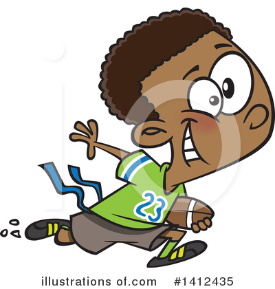 Football Player Clipart #1412435 by toonaday