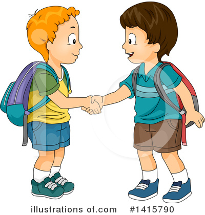 School Boy Clipart #1415790 by BNP Design Studio
