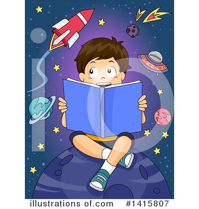 Reading Clipart #1415807 by BNP Design Studio