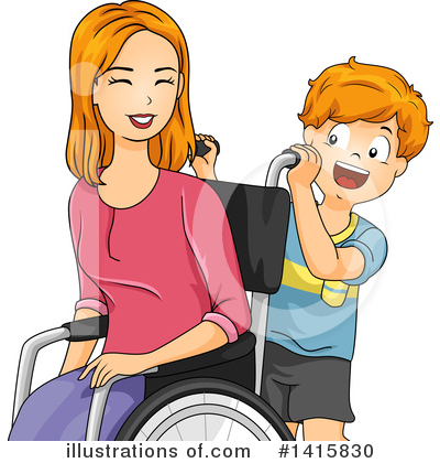 Wheelchair Clipart #1415830 by BNP Design Studio