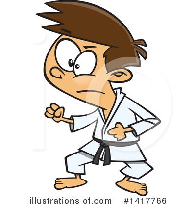 Karate Clipart #1417766 by toonaday