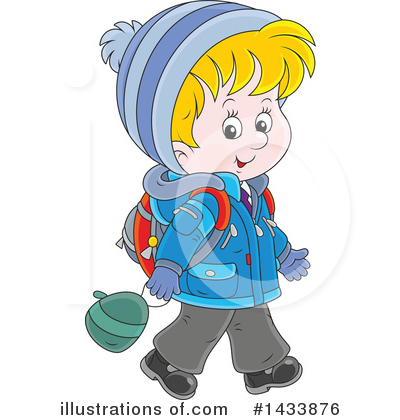 School Children Clipart #1433876 by Alex Bannykh