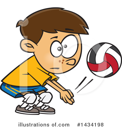 Volleyball Clipart #1434198 by toonaday